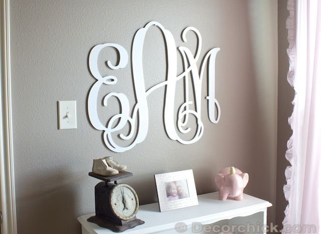 Nursery Update: The Prettiest Monogram Ever - Decorchick.com