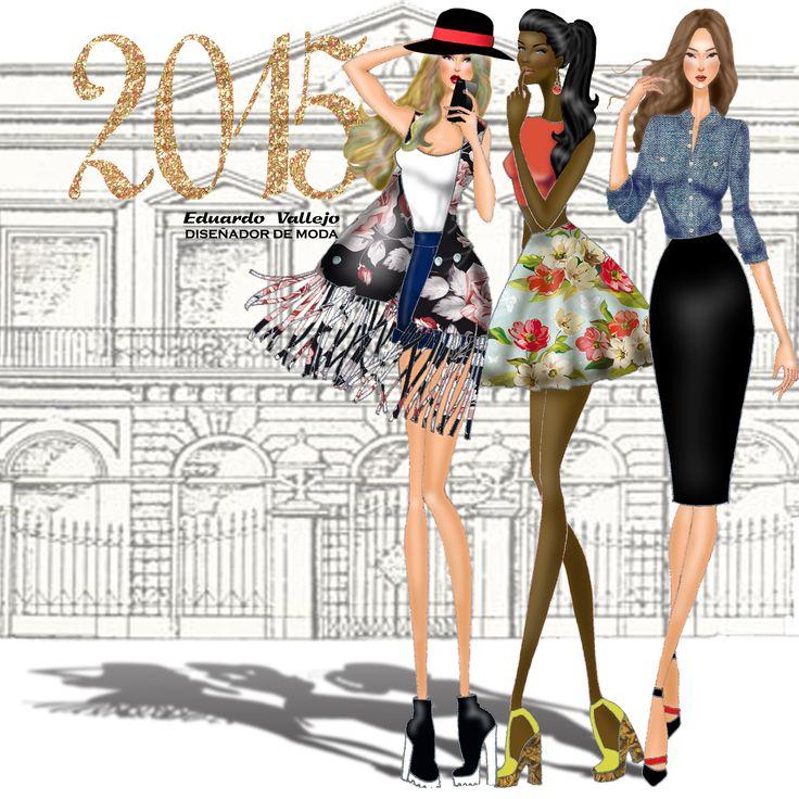 HISTORIA DE LA MODA, Diseños e ilustración By Eduardo Vallejo.  DIseñador e Ilustrador de Moda