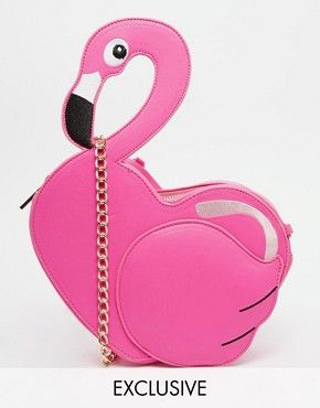 Statement Clutch - Funky Flamingos by VIDA VIDA