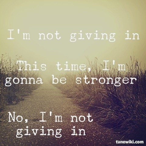 """Giving everything that's happened I really like this song and can't stop listening to it. It's pretty damn good in it's own right! -- #LyricArt for """"Not Giving In - feat. John Newman & Alex Clare"""" by Rudimental"""