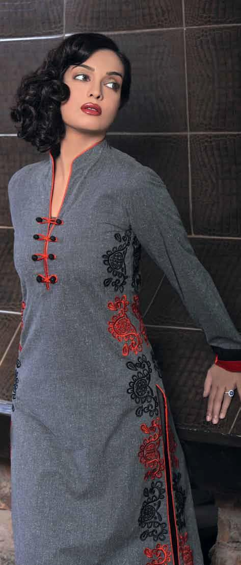 Gul Ahmed Kurti with red or black pants
