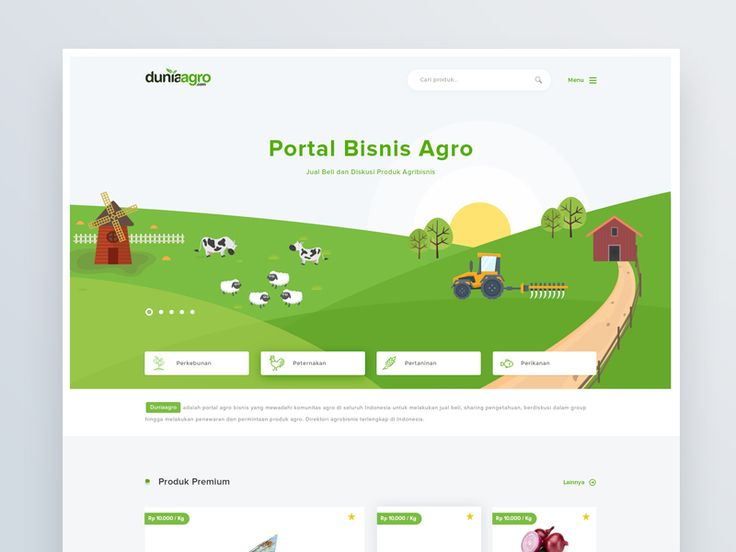 Hi guys, this is exploration for duniaagro landing page. Duniaagro is agro-business portals which facilitate agro communities throughout Indonesia to make buying and selling, sharing knowledge, dis...