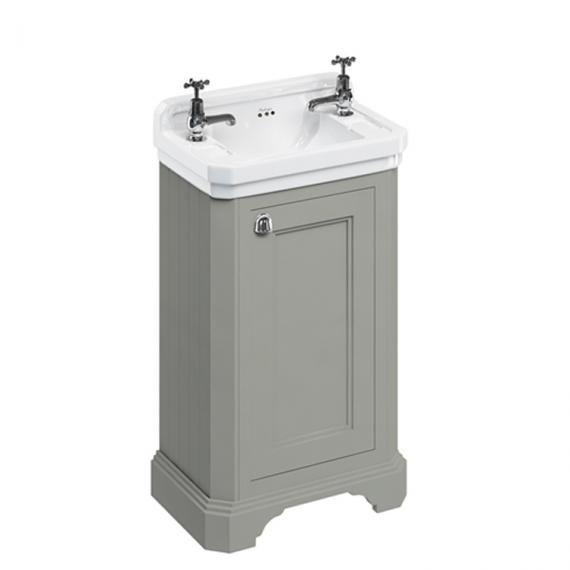 Burlington Dark Olive Freestanding Cloakroom Vanity Unit & Basin