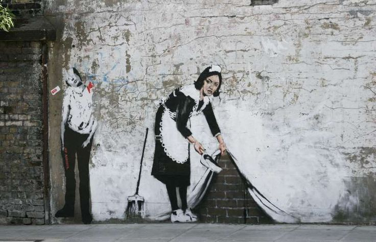 Banksy's work surged in price following Ms Aguilera's acquisition. By 2008, his work was commanding ... - BMCL/Shutterstock