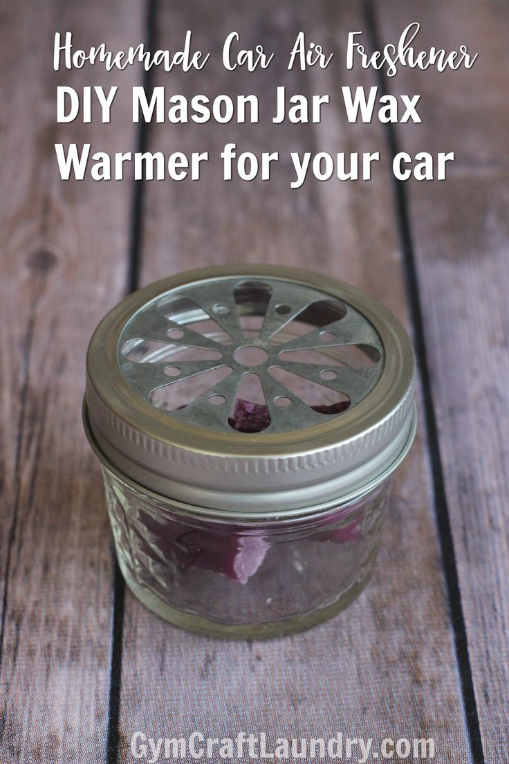 Make the easiest ever homemade car air freshener using the same wax cubes you use in your home! This DIY Mason Jar wax warmer saves money and is cute!