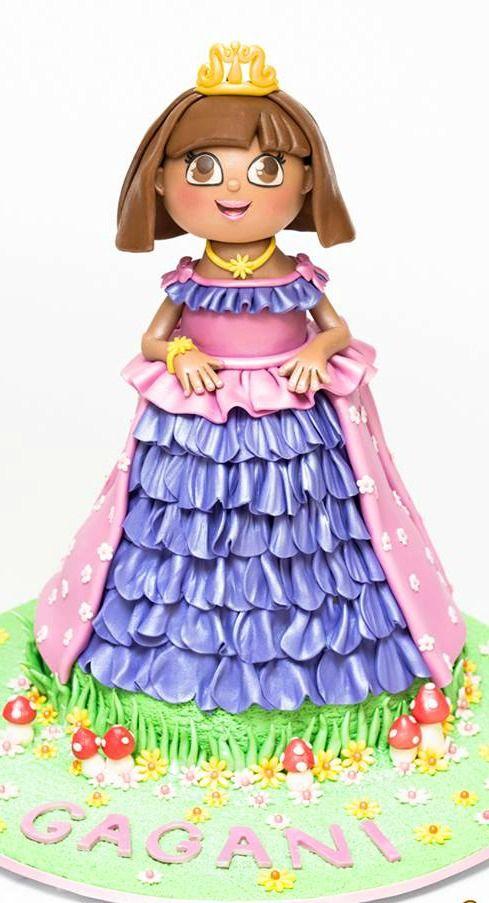 1000 images about dora the explorer cakes on pinterest dora cake birthdays and cakes - Princesse dora ...