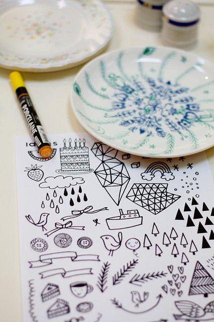 porcelain pen designs