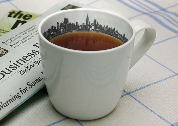 skyline cup, complete with reflection in your tea or coffee