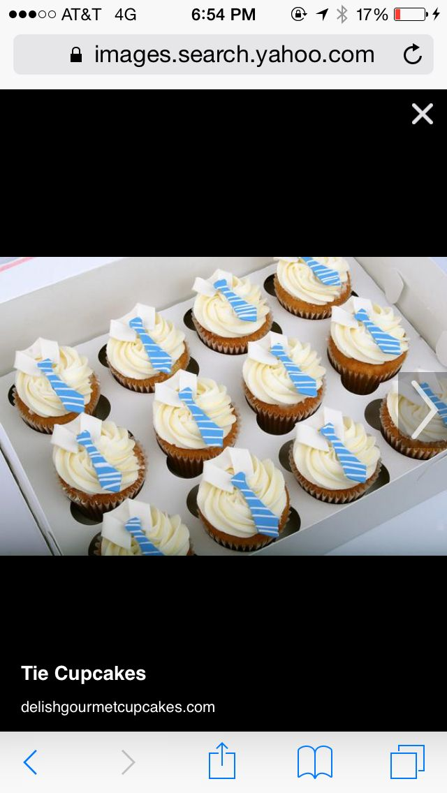 Cute collar cupcakes