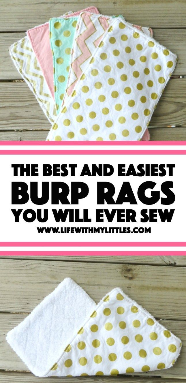 Die einfachsten (und besten) Spucktücher, die Sie jemals nähen werden   – Baby Sewing