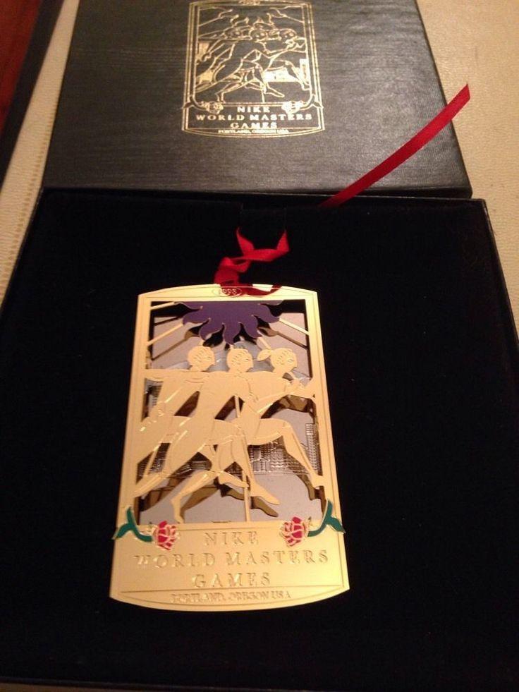 Nike World Masters Games 1998 Christmas Ornament 24k GF Betty Woods Gimarelli OR    eBay