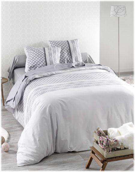 Housse de couette C Design modèle Perle disponible sur www.grandes-marques.fr    #white #homedecor #style #fun #modern #roomgirl