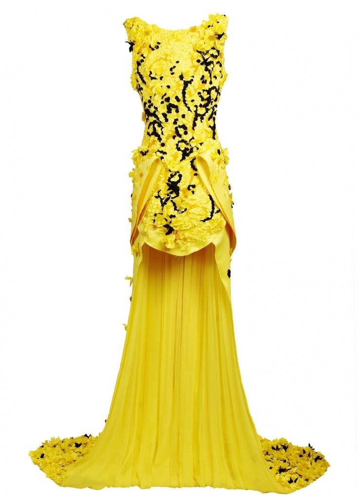 Flower field dress in yellow from Fyodor Golan