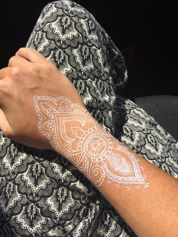 1 Sheet of White Henna Tattoos, Henna Tattoos, White Lace Tattoos, White Tattoos, Bridal Tattoos, Wedding Tattoos, Harni Tattoo