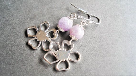 Sterling Silver Amethyst Earrings February by BeadPassionbyAB