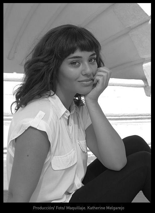 Sesión Blanco y Negro Foto y Maquillaje. Katherine Melgarejo Bahamondes