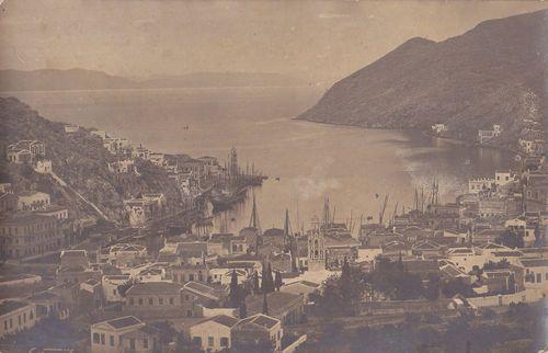 Old postcard, Symi island