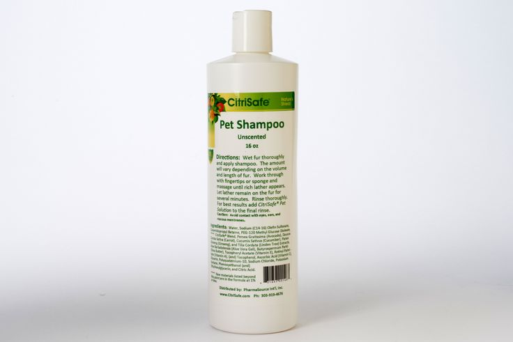 Pet Shampoo (16 oz) - Pets consistently test high for mold contamination. Bio-balance your pet every 1 to 2 weeks with CitriSafe Pet Shampoo, rinse with CitriSafe Pet Solution, and spray daily with Pet Solution to ensure optimal personal and environmental health.