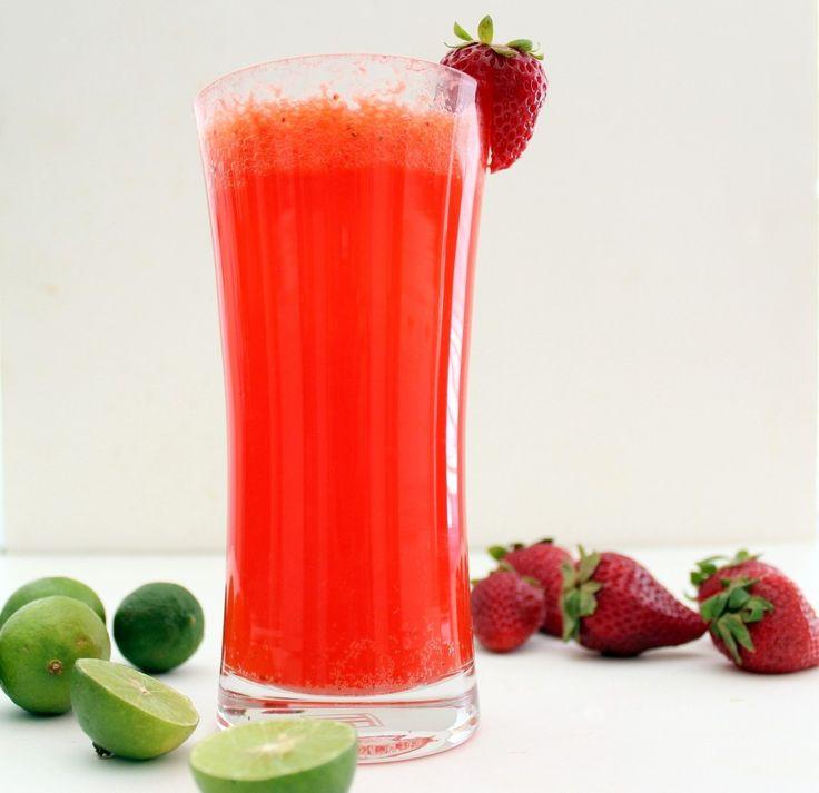 Sparkling Strawberry Limeade | Lemonade | Pinterest