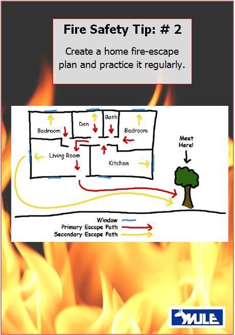 Create a fire escape plan   Fire Safety Tips   Pinterest ...