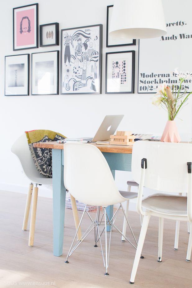 &SUUS | Aan de keukentafel | TOOU | www.ensuus.nl | Painted kitchen table | Workspace