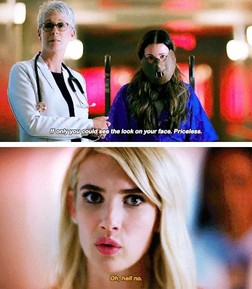 Hester Ulrich, Chanel Oberlin and Cathy Munsch in Scream Queens season 2