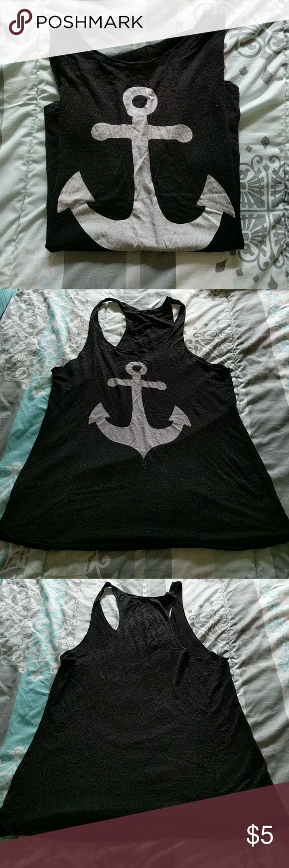 G & G Anchor Tank Top This top is in used condition. No size tag, but this appears to be a Large and would possibly fit XL as well.  ALL listings are priced at $5 (final), so no offers will be considered. However, I do provide a discount for bundles of 4+!   NOTICE: If you create a bundle and it weighs more than 5 LBS, I will cancel the order. I can not pay for the added shipping cost. Please keep this in mind.   My home is a SMOKE FREE / KITTY FRIENDLY home. Thank you!! :) G & G Tops Tank…