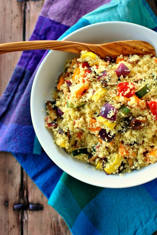 Roasted Vegetable Couscous - This would be delicious with a sprinkling of our Ras El Hanout!