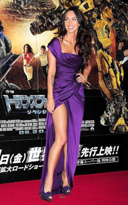 Megan fox, purple dress