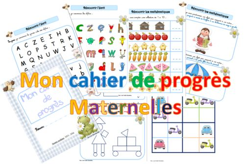 Carnet des progrès en maternelle