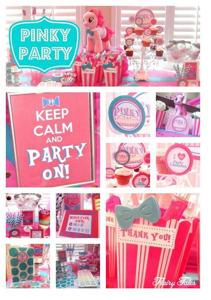 Ideas for hosting a #PinkiePie inspired birthday party.  www.flairytales.com