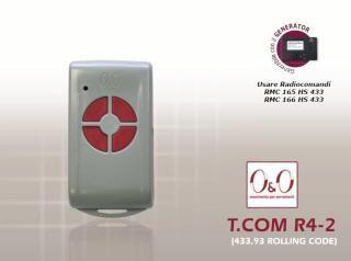 RADIOCOMANDO OO T COM R4-2 Radiocomandi|Solar Automation|antifurto|automatismi|citofonia|videocitofonia|automatismi solari|illuminazione solare|insegne a led|insegne pubblicitarie|kit solari|lavagne luminose|antiallagamento|antifurti per ponteggi|barriere stradali|salvaparcheggio|catena stradale|domotica wireless|climatizzatori wifi|pannelli riscaldanti|radiocomandi|kit pompa di calore aria-acqua|termo arredo elettrico|boiler scalda acqua a pompa di calore|climatizzatore senza unita' esterna…