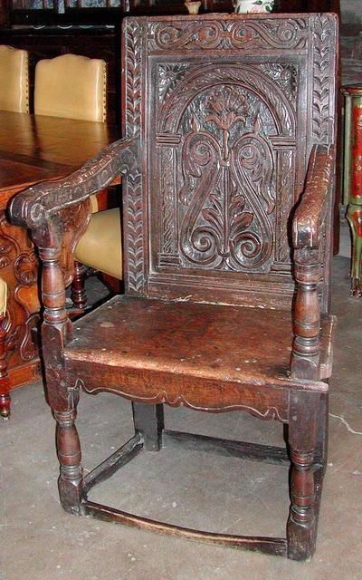 Tudor style hardback chair. Other furniture I like