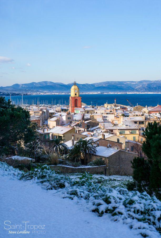 """SAINT-TROPEEEZ - """"SAINT-TROPEZ SOUS LA NEIGE"""" - Saint-Tropez under snow, a rare vision..."""