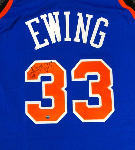 Patrick Ewing Autographed Official Mitchell & Ness New York Knicks Jersey Steiner