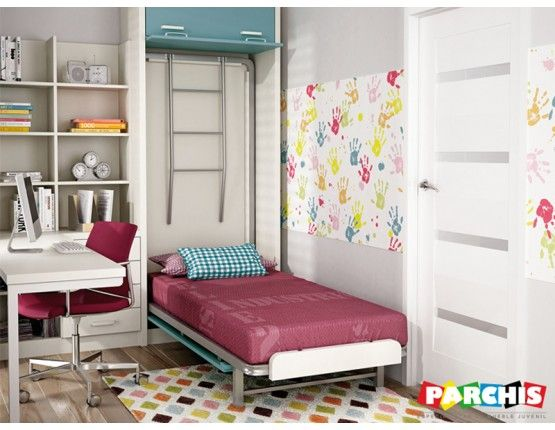 23 best literas abatibles en vertical habitaciones for Dormitorios juveniles dobles