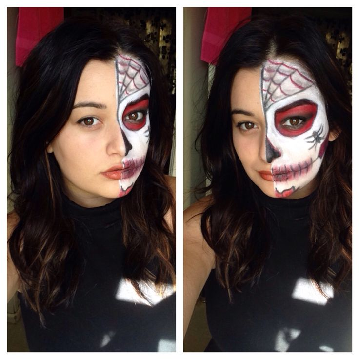Halloween day of the dead make up facepaint Instagram: Rolena1