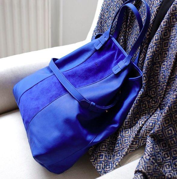 Sézane / Morgane Sézalory Calvin bleu électrique #sezane www.sezane.com/fr
