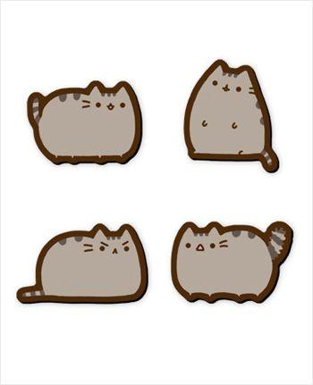 Pusheen emotion pins - set of 4 $10Pusheen Pin, Kitty Pusheen, Pin Sets, Cat Jewelry, Emotional Pin, Kawaii Random, Adorable Sets, Cat Stuff, Cat Lovers