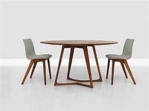 Table Ronde Extensible Design Of Table Ronde Extensible Bois Salle ...