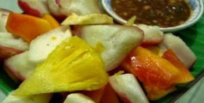 Fruits and Fresh Fruits at once Sambal