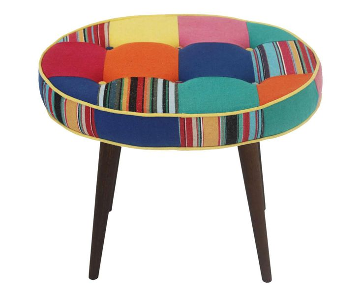 Pufe Oval Patchwork Sofie Westwing Casa Amp Decora 231 227 O
