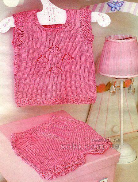 маечка и шортики розового цвета (6-9 мес.)