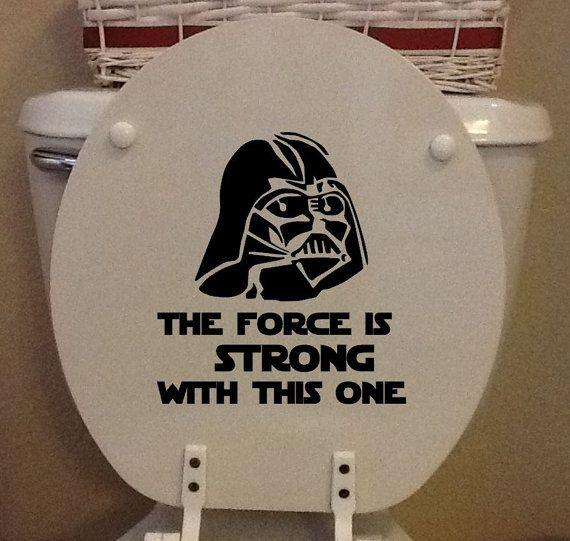 Star Wars WC siège - vinyle Darth Vader « La Force est fort avec celui-ci » siège de toilette - vinyle uniquement