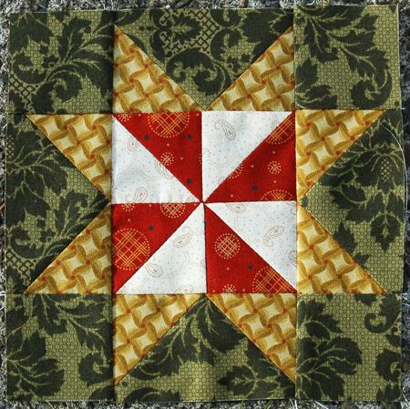 """Incompetent Officers    Block from the book """"The Civil War Love Letter Quilt"""