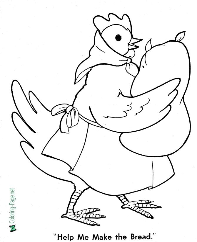 Fairy Tales Little Red Hen Coloring Pages Little Red Hen Activities Little Red Hen Printable Flash Cards