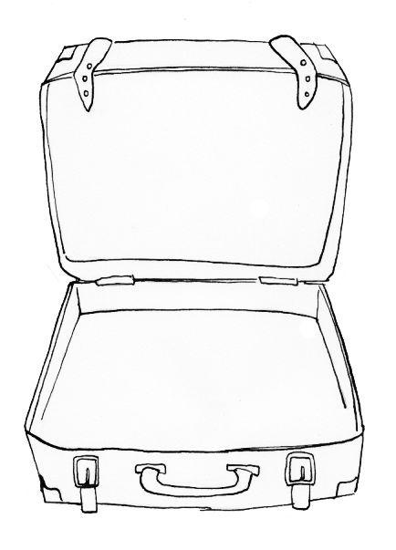 Afbeeldingsresultaat voor koffer tekenen   Koffer, Bilder ...