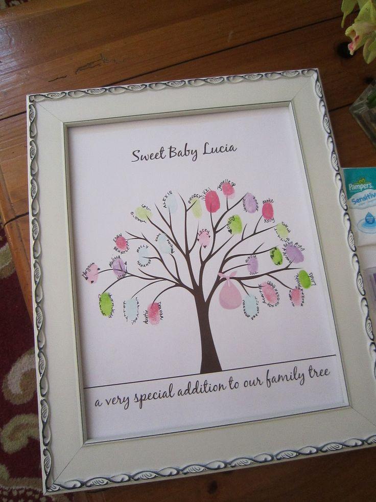 baby shower fingerprint tree template | Baby Shower ...