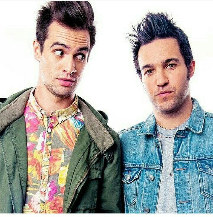 Brendon Urie (Panic! At The Disco) and Pete Wentz (Fall Out Boy)