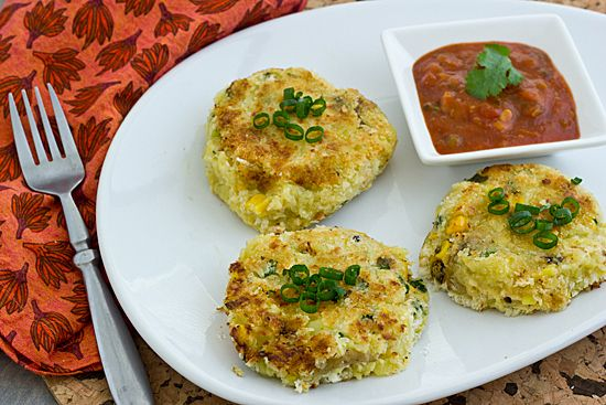 Pepper Jack Potato Corn Cakes [Vegan]